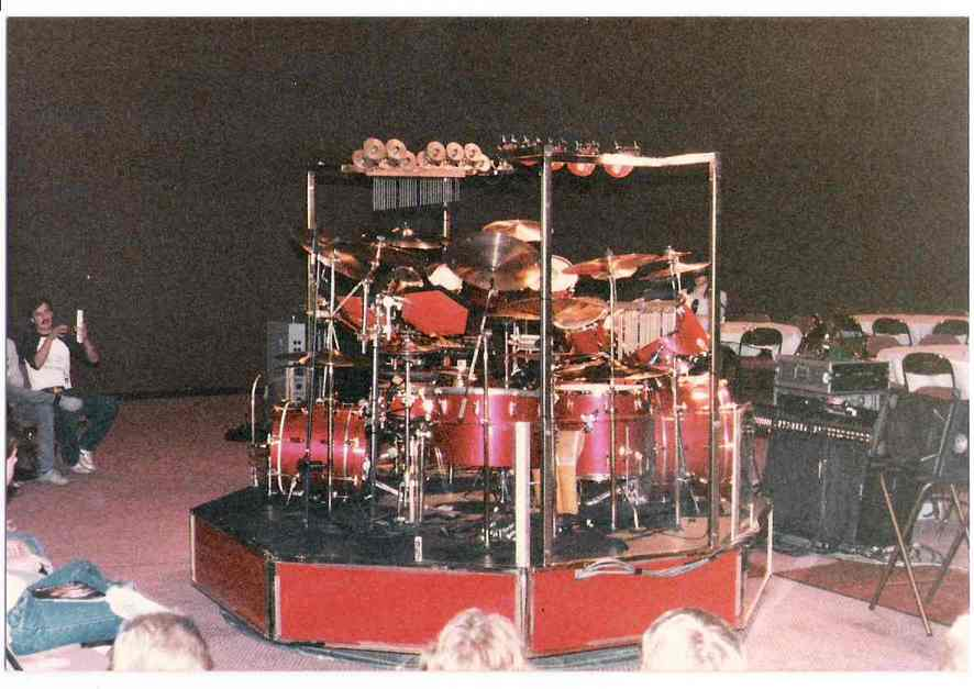 Picture of Neil's kit from 1986 drum clinic