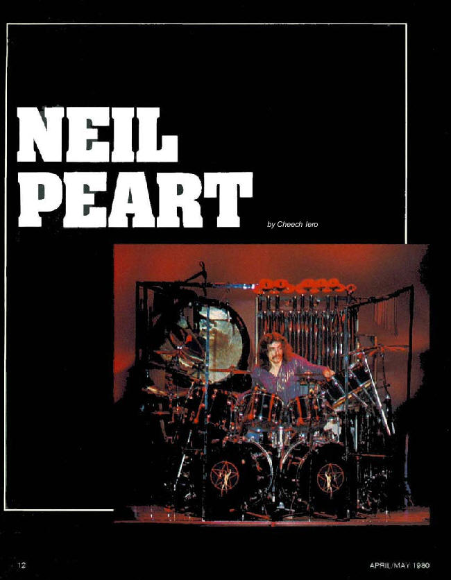 Photos Of Neil Peart 1970s