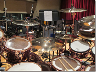 Photo of Neil Peart's drums from NeilPeart.net