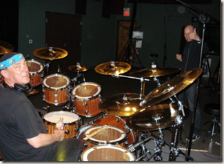 Neil Peart recording Vertical Horizon demos