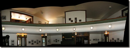 Panorama of music room - Rosario Mansion (reverse)