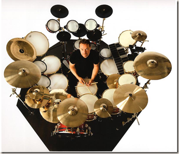 Andrew MacNaughtan's portrait of Neil Peart for Vapor Trails