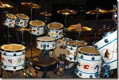 Neil Peart's Hockey Logo drum kit