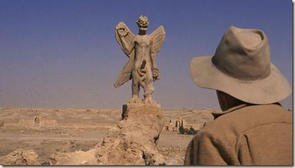 Father Lankester Merrin encounters the demon Pazuzu statue in Iraq