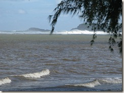 High surf at Anini Beach