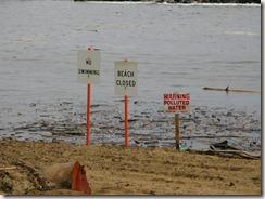 No swimming at Lydgate park