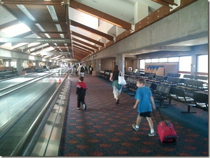 Walking through the Maui airport