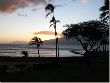 Sunset on Maui from Kihei