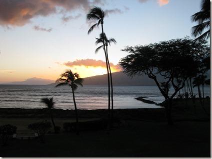 Sunset on Maui from Kihei