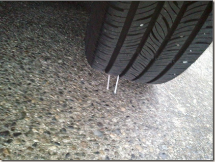 The mysterious screws under my tires