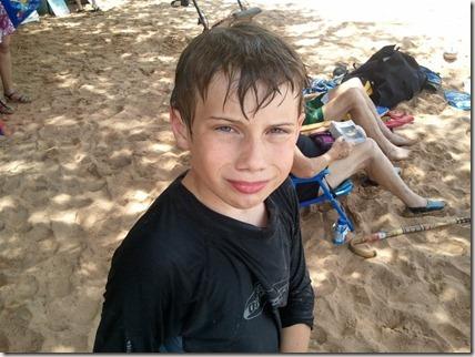 Cameron at Ulua Beach Park
