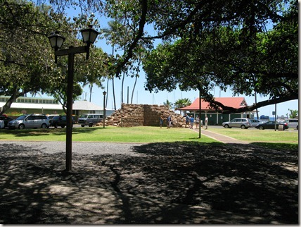 Part of the old fort in Lahaina