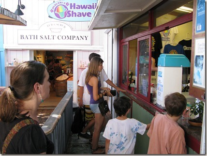 Waiting to order shave ice at Ululani's