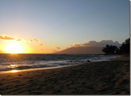 Sunset at Ulua Beach