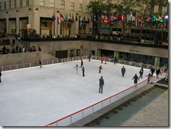 Skaters in Rockefeller Center