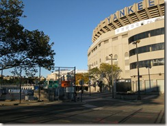 Old Yankee Stadium (foreground)