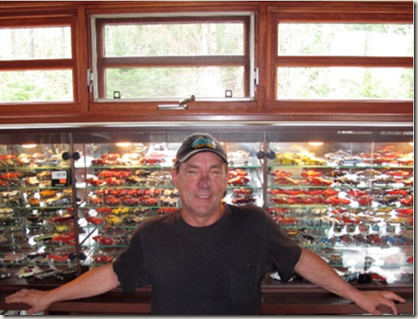 Neil Peart and his collection