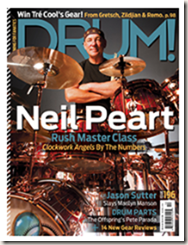 Neil Peart on DRUM! cover