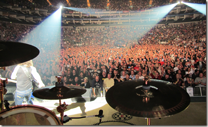 Photo from Neil Peart of the London O2 arena