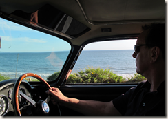 Neil Peart driving