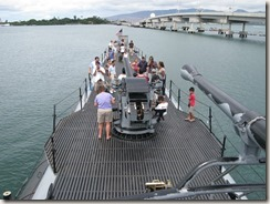 U.S.S. Bowfin - looking aft from the conning tower