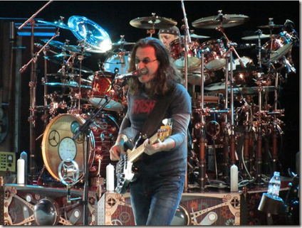 Neil Peart and Geddy Lee at Red Rocks #1 by Paul Secord