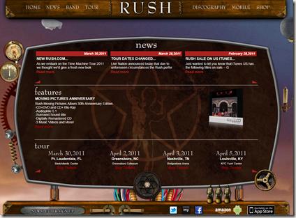 Rush.com 2011