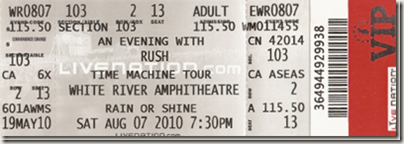 Image: My White River Rush ticket