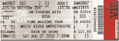 Image: My ticket to White River Rush show