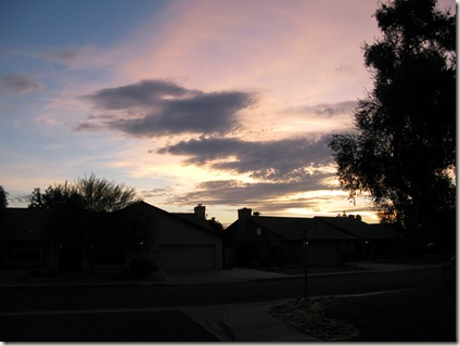 The dawn sky of Phoenix