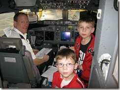 Our pilot, Drew, and Cameron