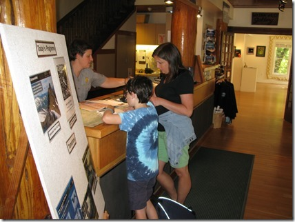 Brenda and Drew explore the Golden West Visitor Center