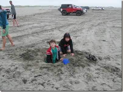 Drew and Cam in digging for gold