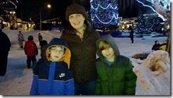 Brenda and the boys - Leavenworth town square