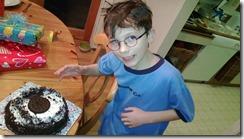 Drew and his Oreo cake