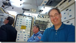 Hanging out in the Space Shuttle trainer